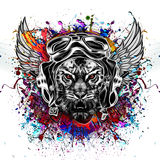 Abstract tiger head Stock Photography