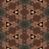 Abstract tile able brown ocher decorative mosaic royalty free stock photos