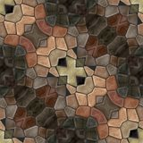 Abstract Tile Able Decorative Mosaic In Vintage Style Royalty Free Stock Image