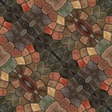 Abstract tile able decorative mosaic in retro style royalty free stock photo