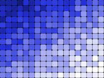 Abstract Tile Background Patte. A series of blue and white retro tiles on a black background Stock Photography