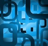 Abstract tile grunge square on blue background Stock Photos