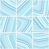 Abstract tile pattern with light blue and gray thin stripes Stock Photography