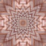 Abstract tile with star motif overlapping trough square motif Royalty Free Stock Image