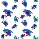 Abstract tile blue textile on white stock illustration