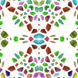 Abstract tileable decorative kaleidoscope sidebar Stock Photography