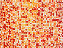 Abstract tiled background. Abstract background of orange and white checkered tiles Stock Photos