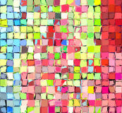 Abstract tiled multi color mosaic backdrop Royalty Free Stock Photos