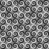 Abstract tiled pattern, Circles or rings in black and white, Tile texture background, Seamless illustration Royalty Free Stock Images