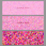 Abstract tiled rectangle pattern banner design set Stock Image