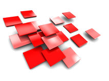 Abstract tiles background. 3d illustration of abstract ceramic tiles over white background Royalty Free Stock Images