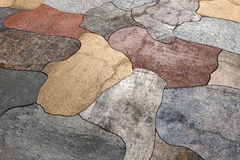 Abstract tiles floor. 3d rendering of an abstract tiles floor stock illustration