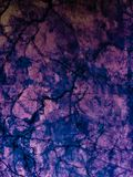 Abstract tiles floor and rock on purple darkness background and wallpaper. Art stock photography