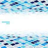 Abstract tiles perspective background. Abstract perspective background with blue and gray poly texture Stock Image