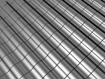 Abstract tiles steel background. Abstract tiles silver steel background with reflection 3d illustration Royalty Free Stock Photography