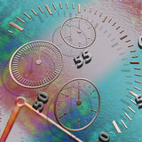 Abstract Time. Abstract illustration of time and space distortion Stock Photo