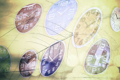 Abstract time conceptual, blurred vintage background. Stock Image
