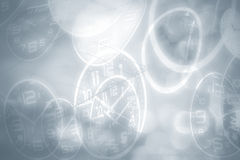 Abstract time conceptual, blurred vintage background. Stock Images