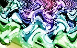 Abstract time distortion purple blue green color bokeh wallpaper Royalty Free Stock Photos
