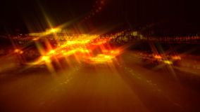 Abstract Time lapse of driving at night with star filter stock footage