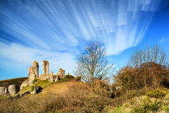 Abstract time lapse stack landscape of castle Stock Photos