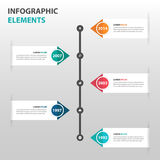 Abstract timeline business Infographics elements, presentation template flat design vector illustration for web design marketing Royalty Free Stock Images