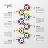 Abstract timeline infographic template. Vector illustration. Stock Image