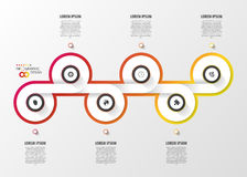Abstract timeline infographic template. Vector Stock Photography