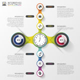 Abstract timeline infographic template. Vector illustration Stock Photo