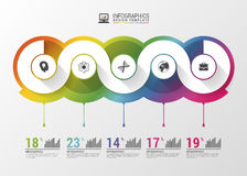 Abstract timeline infographic template. Vector illustration Stock Photography