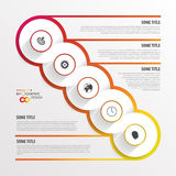 Abstract timeline infographic template. Vector illustration. Royalty Free Stock Photography