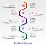Abstract timeline infographics. Vector business template for presentation. Workflow or process diagram, flowchart, vector eps10 illustration royalty free illustration