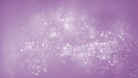 Abstract tiny white particles moving on pink background. Shiny floating bokeh particles. Soft snowing background animation stock video