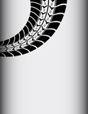 Abstract tire track background Stock Image
