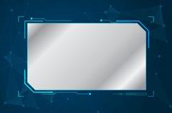 Abstract toekomstig futuristisch vorm virtueel grafisch gebruikersinterface stock illustratie