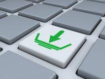 Abstract toetsenbord met downloadknoop Stock Foto