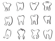 Abstract tooth icon Stock Image