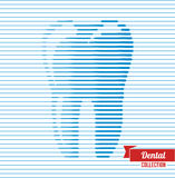 Abstract tooth made up from lines. Royalty Free Stock Photo