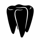 Abstract tooth sign Royalty Free Stock Photos