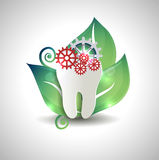 Abstract tooth treatment concept design Stock Image