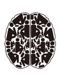Abstract top view of human brain. The abstract design of human brain stock illustration