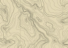 Abstract topographic map. vector. Abstract topographic map in brown colors. vector Stock Photo