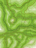 Abstract topographical green map Royalty Free Stock Photos