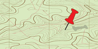 Abstract Topographical Map. Stock Photo