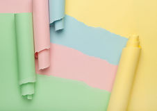 Abstract torn colored paper background Stock Image