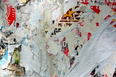Abstract torn posters Stock Photography