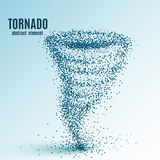 Abstract tornado on white background Stock Photography