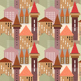 Abstract town. Seamless pattern. Royalty Free Stock Photos