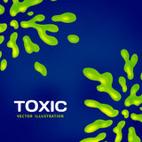 Abstract toxic vector color splash background Stock Photography