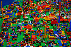 Abstract toy blocks Royalty Free Stock Images